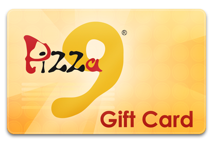 Pizza 9 Gift Card